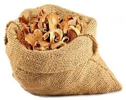 сушеные грибы так же хранят в мешках